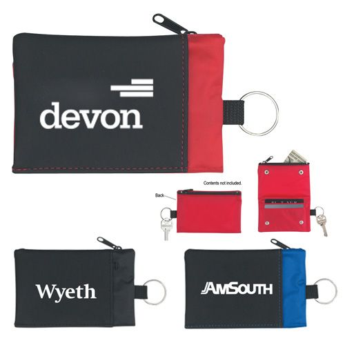 Custom folding wallet with key rings are perfect for sales executives, sales associates and others who are participating in a tradeshow or business convention.   #CustomWallets #FreeShipping #BestSellers