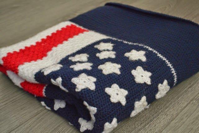 Made by Rooz': Amerikaanse vlag deken