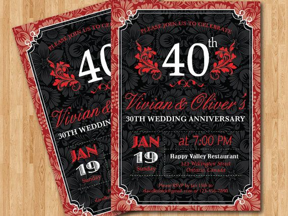 Unique Ruby Wedding Anniversary Gifts: 1000+ Images About 40th Anniversary Party Ideas On