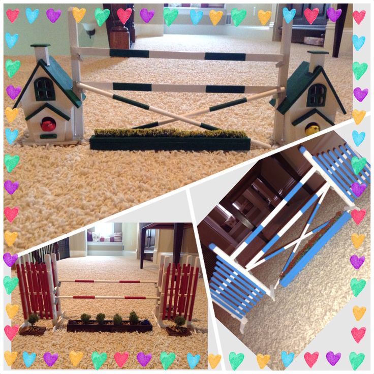 Easy to make Breyer horse jumps!