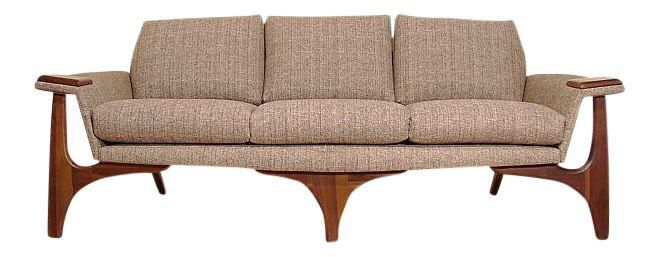 1960s Adrian Pearsall Craft Associates Mid-Century Danish Modern Sofa on Chairish.com