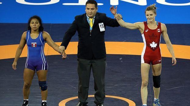 Juegos Panamericanos 2015: Thalia Mallqui ganó medalla de plata en lucha libre. July 17, 2015.