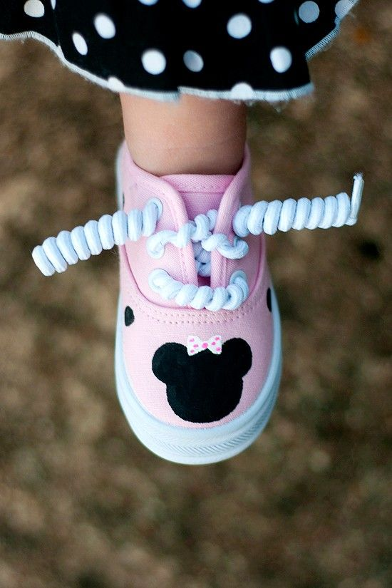 minnie mouse bedroom ideas | Hand painted pink minnie mouse sneakers! Available in infant/toddler ...