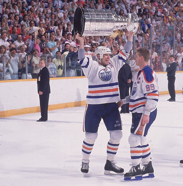 Mark Messier and Wayne Gretzki, Edmonton Oilers