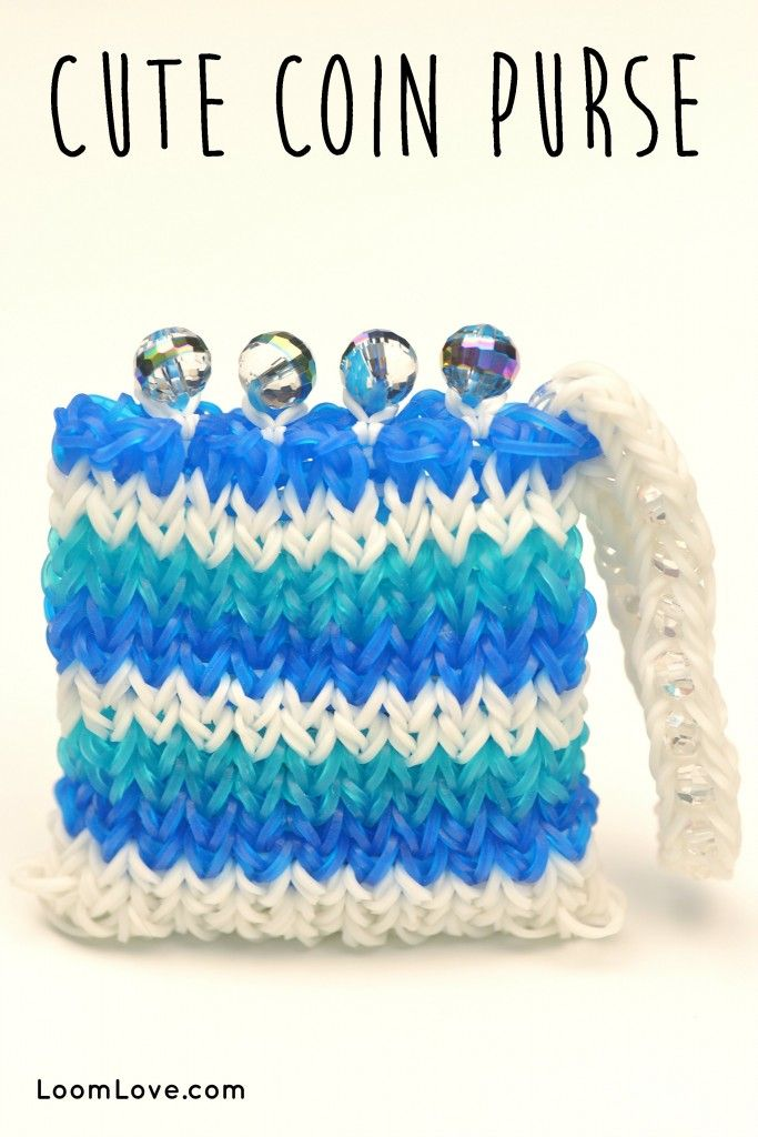 rainbow loom coin purse