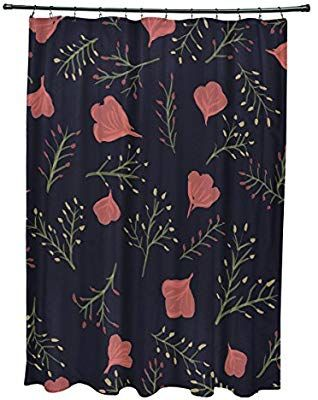 Amazoncom E By Design 71 X 74 Spring Blooms Floral Print Shower