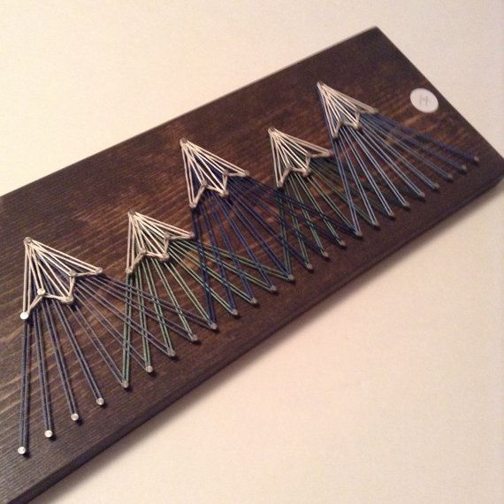 Mountain String Art, Five Peak Blues/Greens (small)