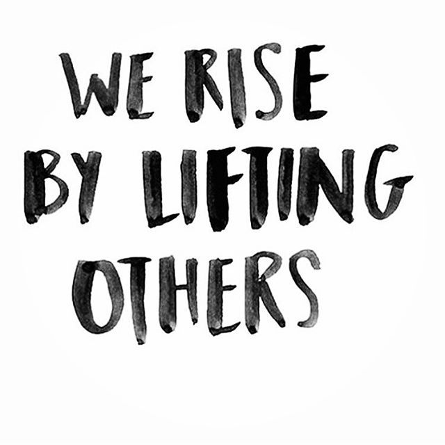 We rise by lifting others Inspiring quote. Boom-ya! So grateful to be surrounded by incredibly uplifting members of our online and offline communities. There really is no competition, all we need to do is create peeps! loving @racheal.cook #firedupandfocused challenge