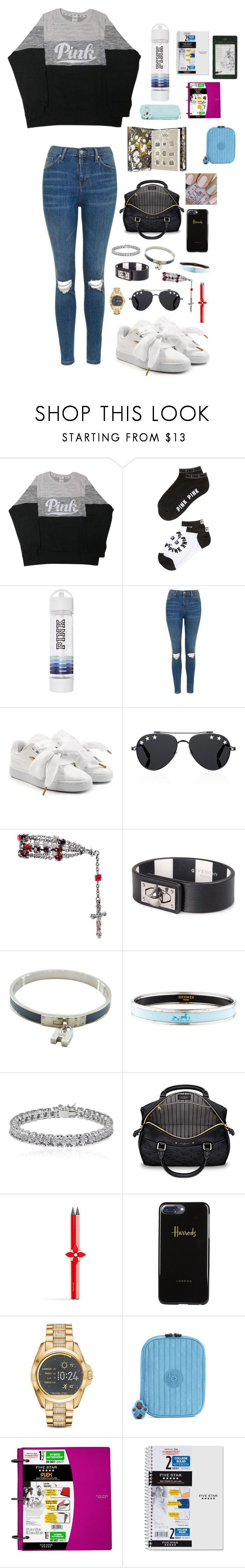 """Sin título #1540"" by sabrinnatorres on Polyvore featuring moda, Victoria's Secret, Topshop, Puma, Givenchy, Hermès, Apples & Figs, Empreinte, Harrods y Michael Kors"