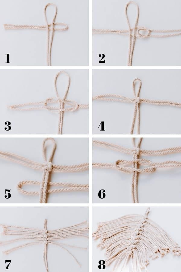 Erfahren Sie, wie man DIY Macrame Feathers macht! …