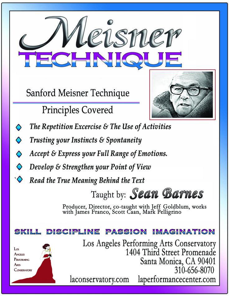 Meisner Technique in LA Performance center, for Fall Classes !  #FallClasses #LAPerformancecenter #Santamonica