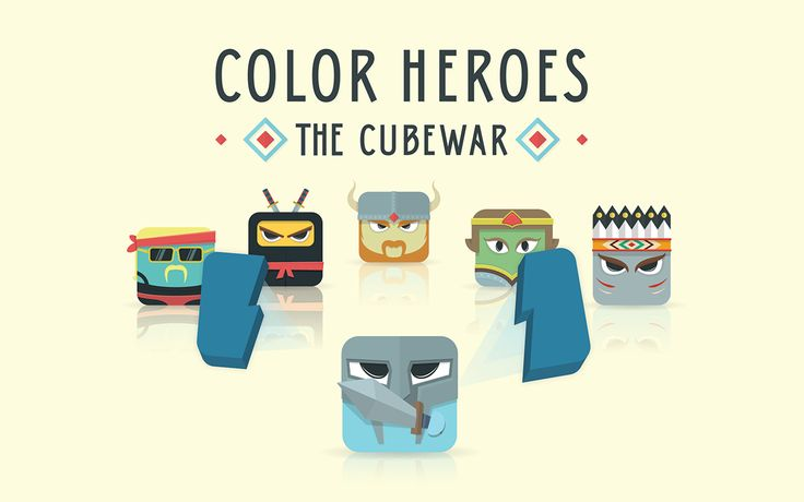 Color Heroes: the Cube War on Behance