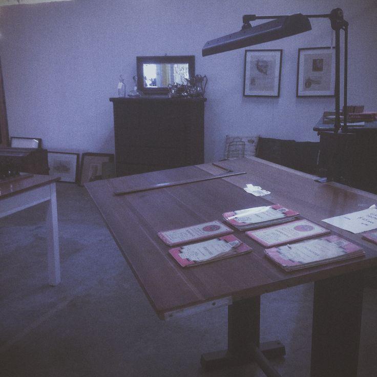 Restored Draftsman's table in at MRE, circa 1930.