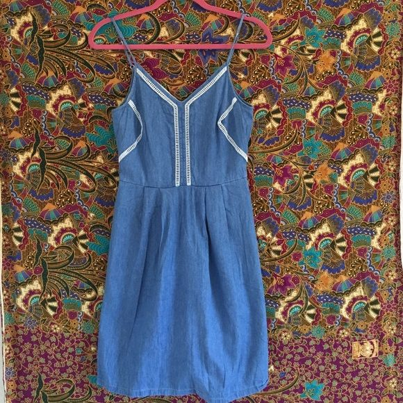 Maison Jules Cotton Sundress All the goodness of summer is quickly approaching! You'll want this adorable dress for BBQs, music festivals and all the fun activities summer has to offer! This dress has never been worn. The straps are adjustable AND it has pockets Maison Jules Dresses Mini