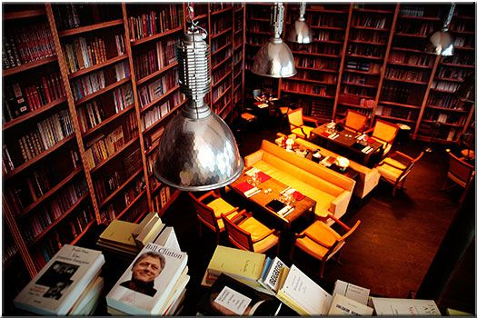 BON Restaurant Paris, library room: french and asian culinary restaurant designed by Philippe Starck. Possible venue???