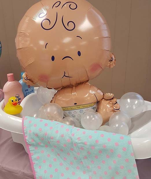 Baby Shower Balloon Gift or Decor Idea #babyshowerideas