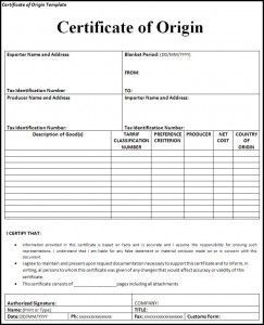 10 Certificate Of Origin Templates Word Excel Pdf Templates