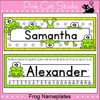 These fun frog theme nameplates will look fantastic on student's desks! You can either write the students' names by hand or edit the included Powerpoint file.