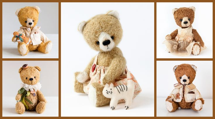 by Marina Dorogush, #teddybear #collection #art  #artist#ooak#vintage #vintagestyle #teddy #bear#teddybear #artteddybears #marinadorogush