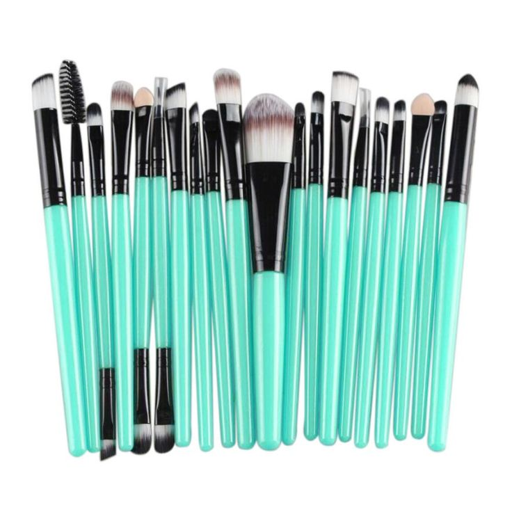 Recém Projetar 20 pcs Cosméticos Maquiagem Jogo de Escova ferramentas Make-up Kit de Higiene Pessoal De Madeira Escovas de Beleza 160518