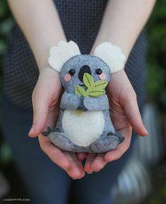 DIY Felt Koala - FREE Pattern
