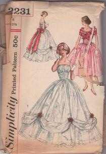 Holy Cow!  I have this one.  Made my prom dress from this!: Vintage Sewing Patterns, Momspattern Vintage, Clothing Patterns, Dresses Patterns I, Sewing Vintage, Vintage Dresses Patterns, Sewing Machine, Gowns Patterns, Vintage Dress Patterns