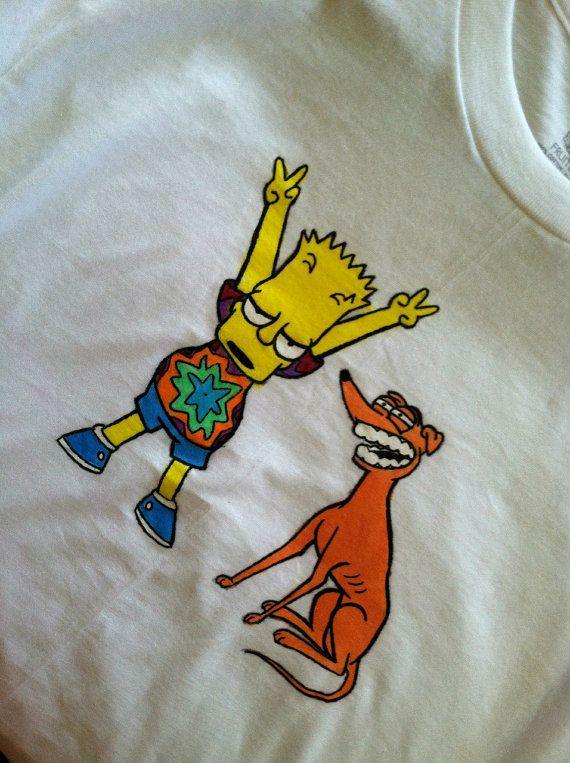 Trippy Bart Simpson Shirt by CurrentlyCoy on Etsy