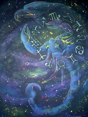 Scorpio constellation and zodiac symbols.  Get in-depth info on Scorpio traits & personality @ http://www.buildingbeautifulsouls.com/zodiac-signs/western-zodiac/scorpio-star-sign-traits-personality-characteristics/