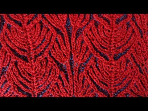 """""""Hearts"""" two-color brioche stitch pattern + free embedded chart - YouTube"""