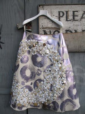 skirt by alison willoughby, shells and buttons