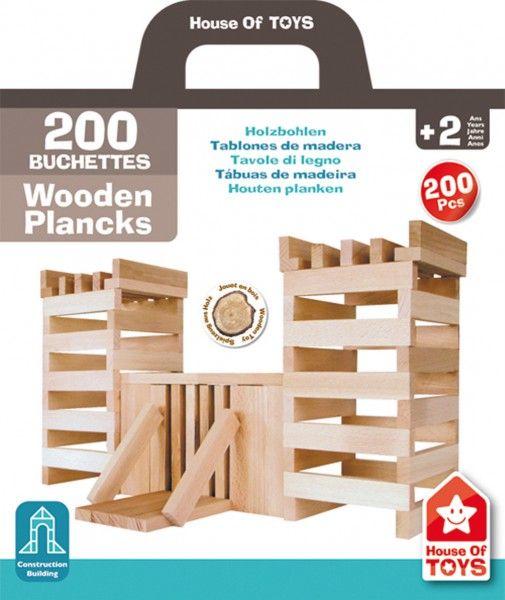 Klocki deseczki House of Toys - 200 elementów