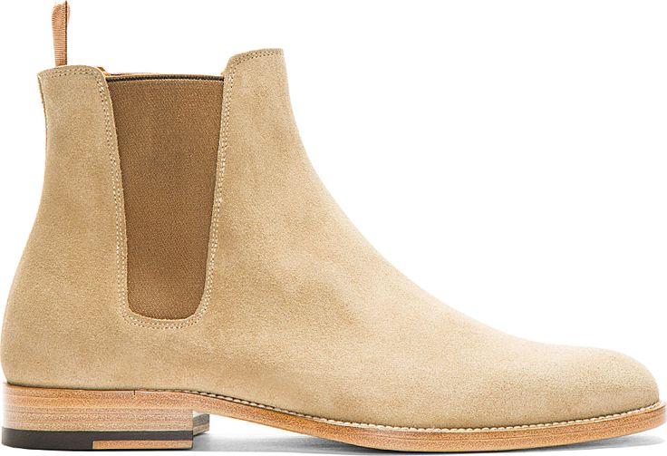 SALE: https://www.ssense.com/men/product/saint_laurent/tan-suede-chelsea-boots/94583