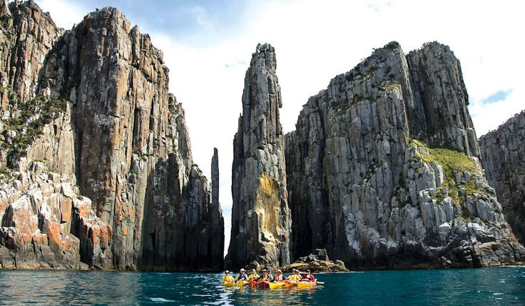 Candlestick, Tasman Peninsula -   Kayaking is available with operators such as Roaring 40s Ocean Kayaking. To see it from the land, the Cape Hauy Track is a five-hour return trek that begins in Fortescue Bay, taking in heath and woodland before the views of the cliffs.