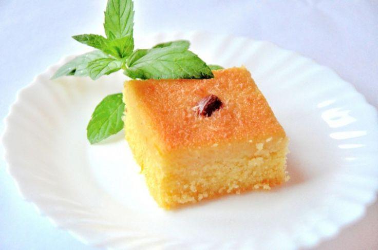 Breslo :: Breslog — Basbousa – Prajitura de gris cu sirop de zahar si apa de flori de portocal – Reteta