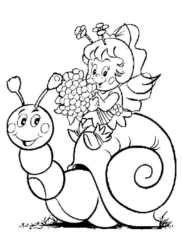 Coloring page : Chanson petit escargot - Coloring.me