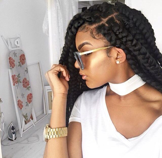Hair braids highlight melanin black girl magic