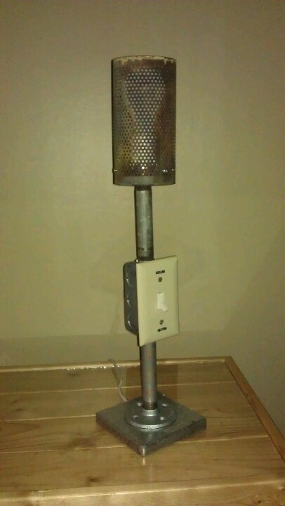 Industrial Lamp I Used Car Parts Galvanized Pipe And