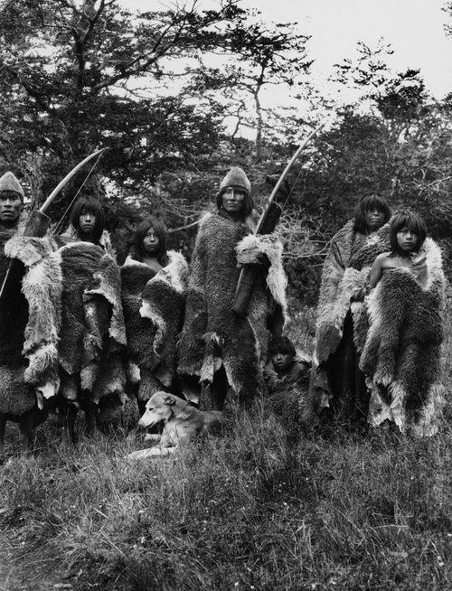 Selknam (Ona) hunters, Tierra del Fuego, Chile & Argentina.