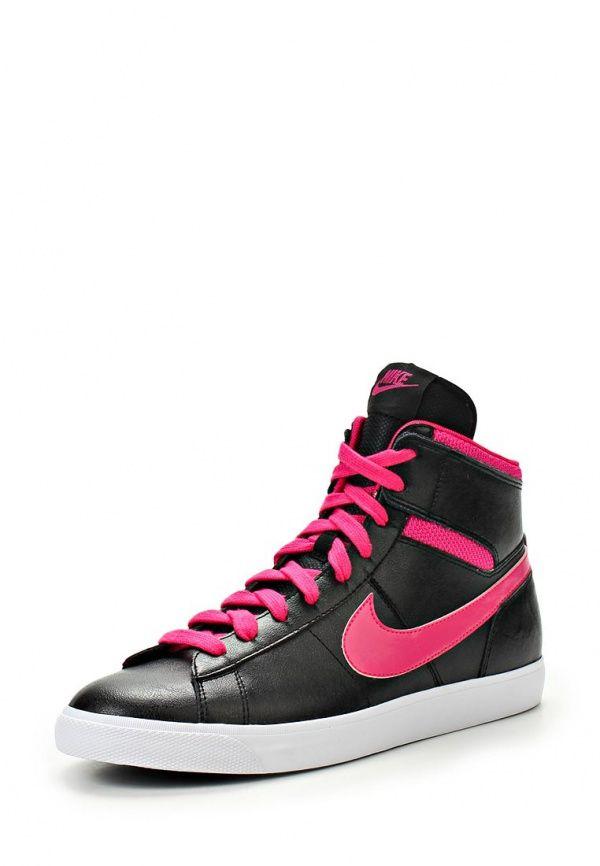 Кеды Nike / Найк женские. Цвет: черный. Материал: искусственная кожа, натуральная кожа, текстиль. Сезон: Весна-лето 2014. С бесплатной доставкой и примеркой на Lamoda. http://j.mp/1qLHImn