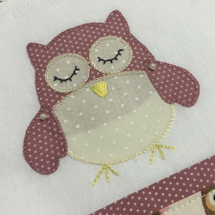 Owl handmade patchwork