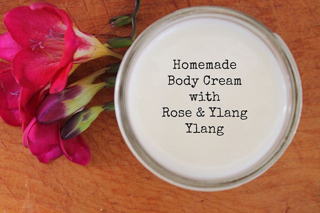 Homemade Body Cream with Rose & Ylang Ylang by thedabblist, via Flickr