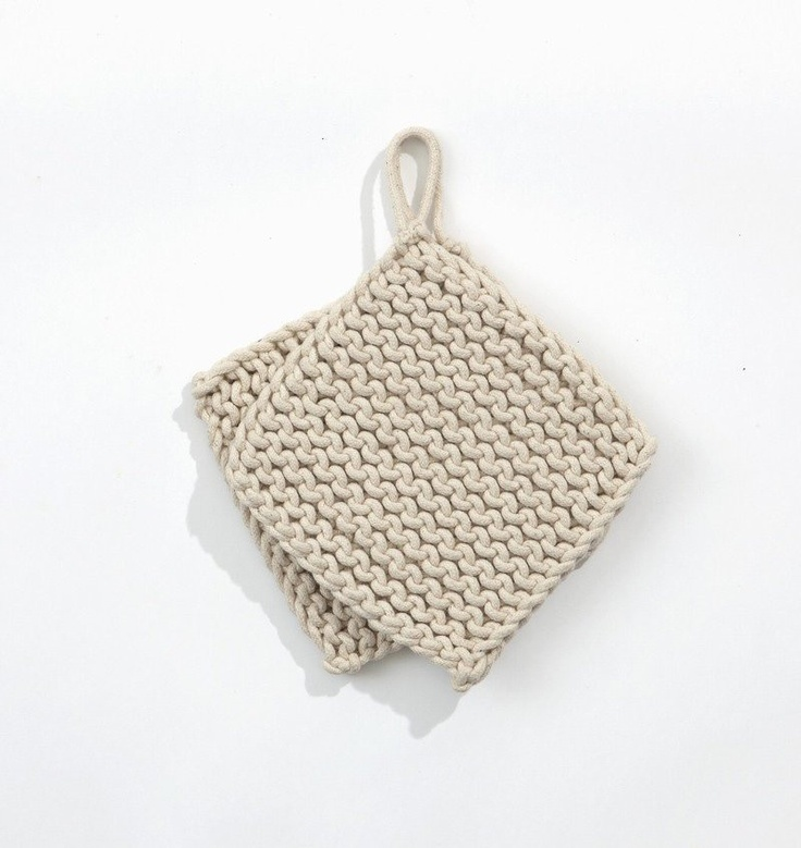Ferm Living Shop — Knitted Potholders - Off White