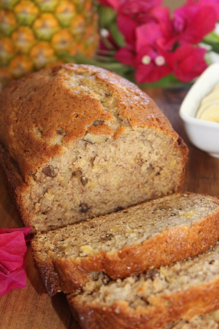 Hawaiian Pineapple Banana Nut Bread Recipe In 2020 Banana Nut Bread Nut Bread Recipe Moist
