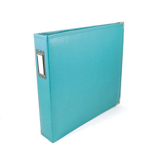 We R Memory Keepers - Classic Leather - 8.5 x 11 - Three Ring Albums - Aqua at Scrapbook.com