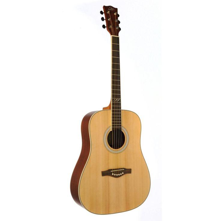 Eko Guitars 06217083 TRI Series Dreadnought Wood 40-inch x 18-inch x 5-inch Acoustic Guitar, Brown