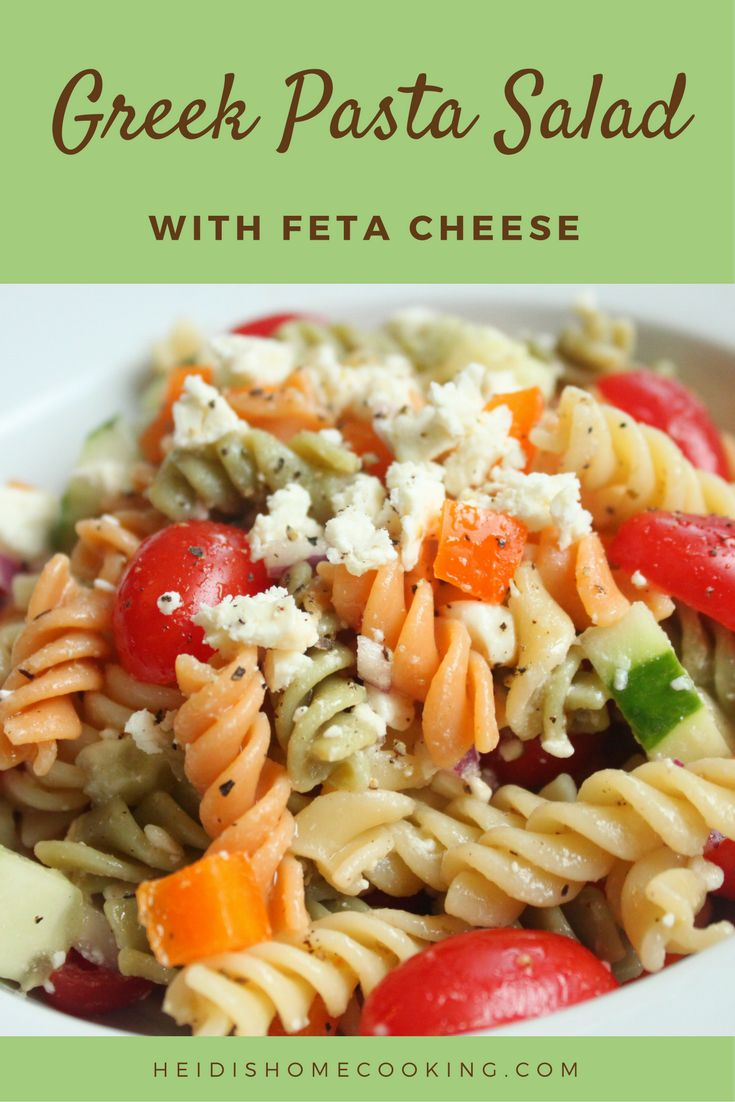 25+ best ideas about Pasta salad with feta on Pinterest ...