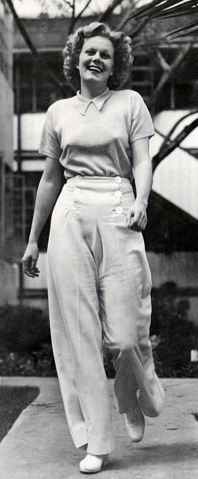 Jean Harlow - 1936 - good to see her sailor trousers pull at the buttons too!