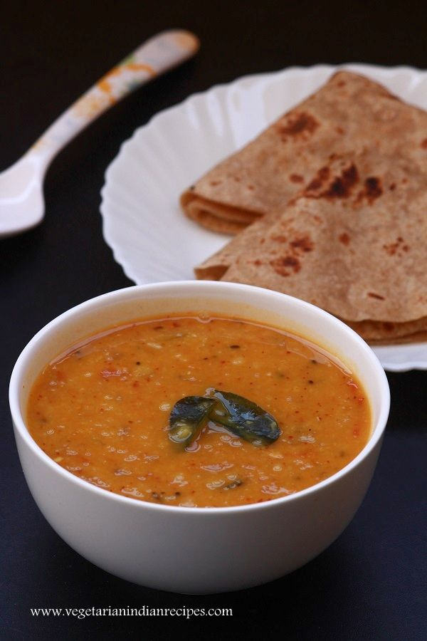 Dal fry is a popular Indian dal curry made with toor dal.  It can be served as a side dish for rice, chapati, or roti. #indianfood #dal #curry #sidedish #daal