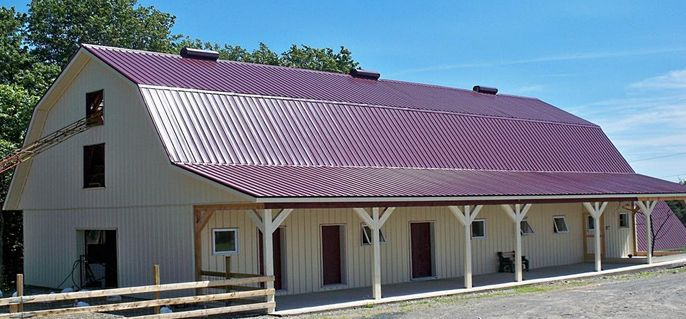 Junior Steel Roofing by Ideal in Burgundy
