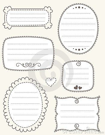 Doodle frame collection by Dreamzdesigner, via Dreamstime